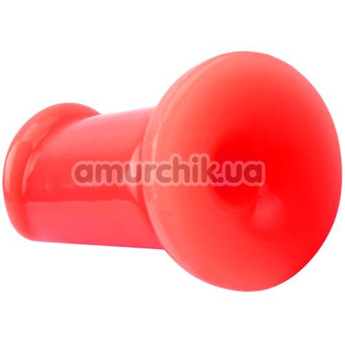 Набор из 3 анальных пробок с вибрацией Hot Storm Anal Slim Dildo Kit, красный