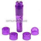 Клиторальный вибратор с насадками Hi-Basic, фиолетовый - Фото №1