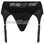 Трусики для страпона с подвязками Strap-On-Me Rebel Harness, черные - Фото №1