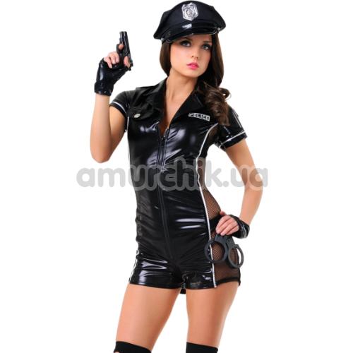 Костюм полицейской LeFrivole Police Woman Costume (02546), чёрный