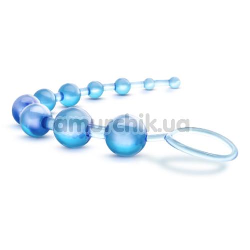Анальная цепочка B Yours Basic Beads, голубая