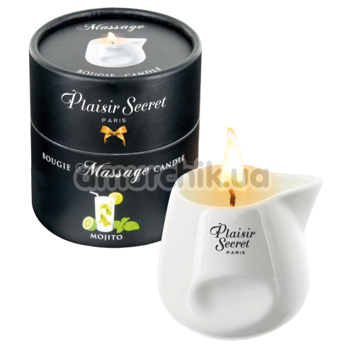 Массажная свеча Plaisir Secret Paris Bougie Massage Candle Mojito - мохито, 80 мл - Фото №1