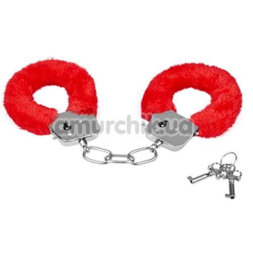 Наручники MAI No.38 Metal Furry HandCuffs, красные