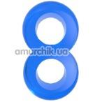 Эрекционное кольцо Get Lock Duo Cock 8 Ball Ring, голубое - Фото №1