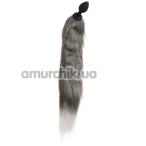 Анальная пробка с хвостом лисы Loveshop S, черная - Фото №1