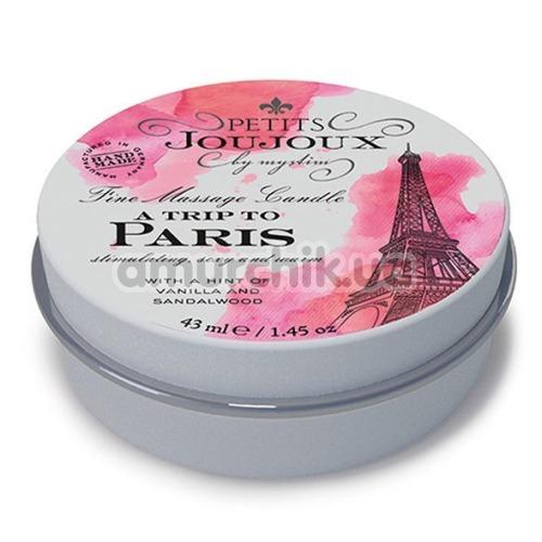 Свеча для массажа Petits Joujoux A Trip To Paris Vanilla And Sandalwood - ваниль и сандаловое дерево, 43 мл - Фото №1
