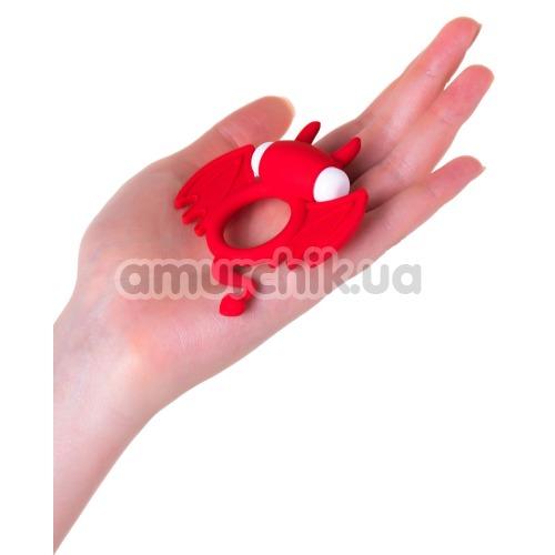 Эрекционное кольцо с вибрацией JOS Cocky Devil, красное