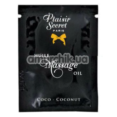Массажное масло Plaisirs Secrets Paris Huile Massage Oil Coconut - кокос, 3 мл - Фото №1