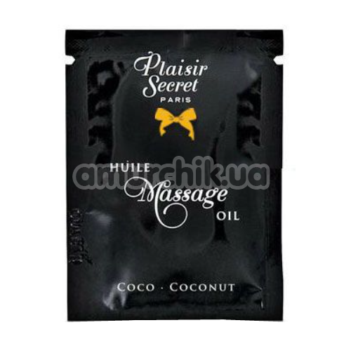 Массажное масло Plaisirs Secrets Paris Huile Massage Oil Coconut - кокос, 3 мл