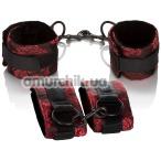 Набор фиксаторов для рук и ног Scandal Universal Cuff Set, красный - Фото №1