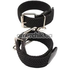 Наручники Behave Luxury Fetish Under Control Cuff Hogtie, черные - Фото №1