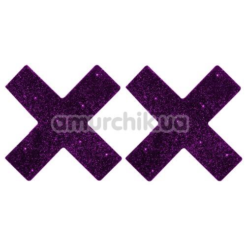 Украшения для сосков Titty Sticker, крестики фиолетовые