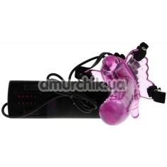 Вибратор-бабочка на шлейках Butterfly Massager, розовый