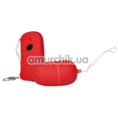 Виброяйцо с дистанционным пультом Bad Kitty Vibro Bullet красное - Фото №1