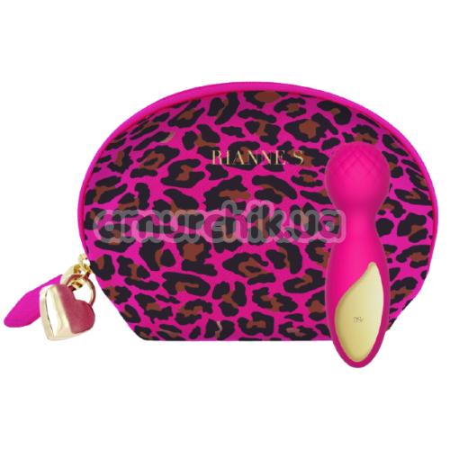 Универсальный вибромассажер Rianne S Lovely Leopard Mini Wand, розовый