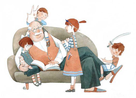 Дедушки - всегда найдут, чем занять ребенка