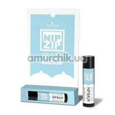 Бальзам для cосков с охлаждающим эффектом Sensuva Nip Zip Ice Cube Strawberry Mint - мятная клубника, 4 мл - Фото №1