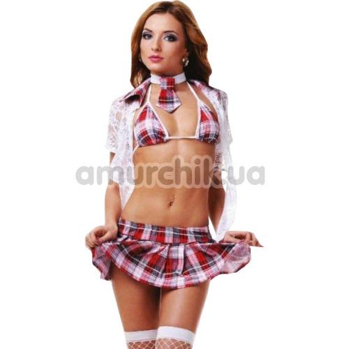 Костюм школьницы LeFrivole Schoolgirl Costume (02789), розовый - Фото №1