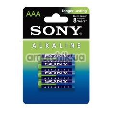 Батарейки Sony Alkaline AAA, 4 шт - Фото №1