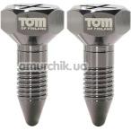 Зажимы для сосков Tom of Finland Bro's Pins Magnetic Nipple Clamps, серебряные - Фото №1