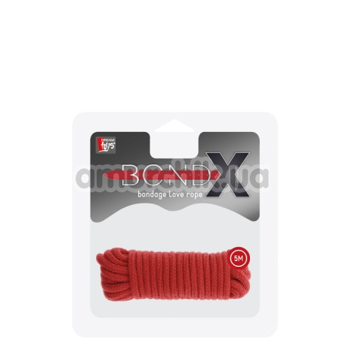 Веревка BondX Bondage Love Rope 5 м, красная