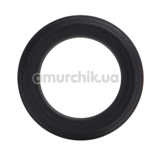 Эрекционное кольцо Adonis Silicone Ring Caesar, черное - Фото №1