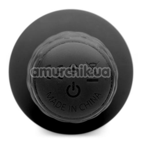 Анальная пробка с вибрацией Ass Thumpers The Plug 10x Silicone Vibrating Thruster ровная, черная