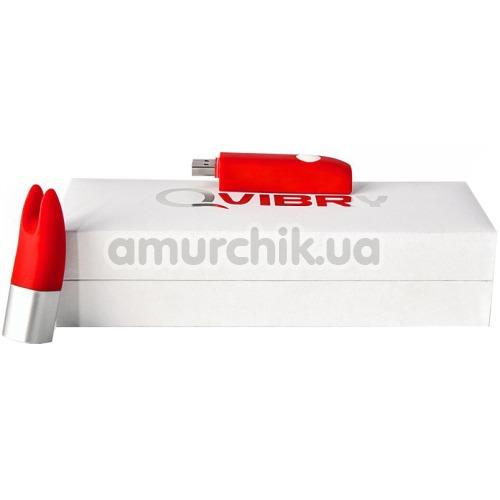 Клиторальный вибратор-флешка Qvibry Memo, красный