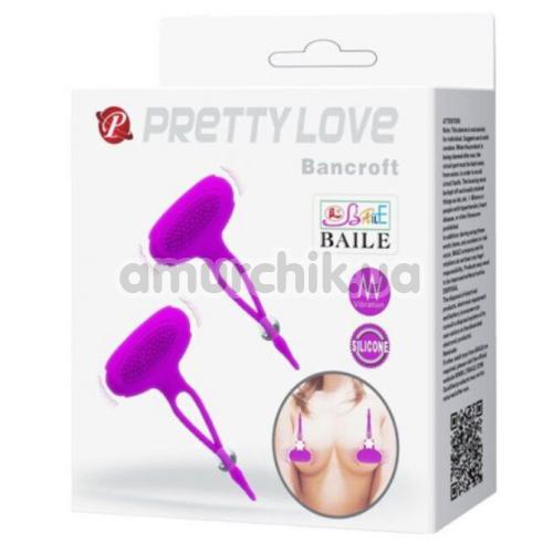 Стимуляторы для сосков с вибрацией Pretty Love Bancroft, фиолетовые