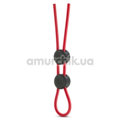 Эрекционное кольцо Stay Hard Silicone Double Loop Cock Ring, красное