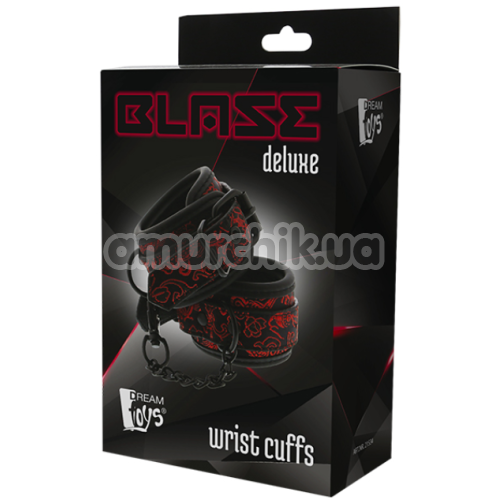 Наручники Blaze Deluxe Wrist Cuffs, красные