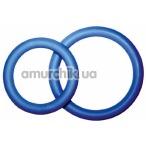Набор из 2 эрекционных колец PotenzDuo Medium, синий