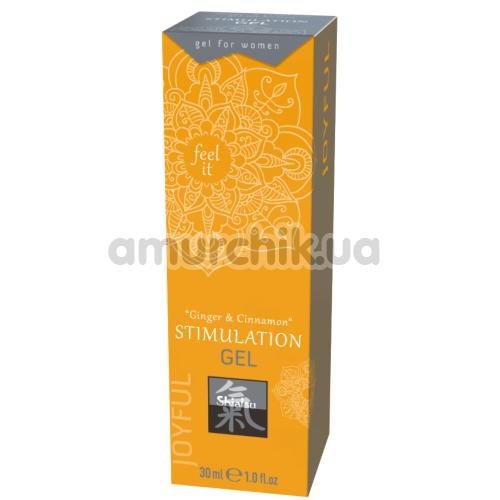 Гель для стимуляции клитора Shiatsu Stimulation Gel Ginger & Cinnamon, 30 мл
