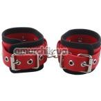 Фиксаторы для рук Handcuffs Woven Belt Edge Sealing With Chain, красные - Фото №1