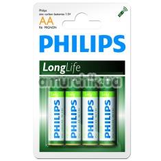 Батарейки Philips LongLife AA, 4 шт - Фото №1