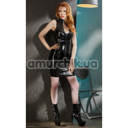 Платье Black Level Vinyl Dress Lacing, черное