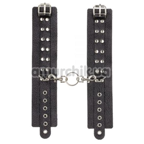 Наручники sLash Leather Rastraints Hand Cuffs, черные