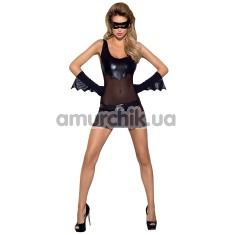 Комплект Obsessive Batty: платье + трусики + пояс + маска + перчатки