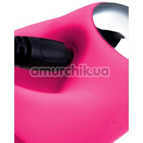 Набор JOS Vita: виброяйцо + вибронасадка на палец, розовый