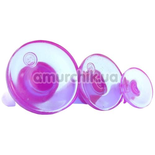 Набор анальных пробок Crystal Jellies Anal Initiation Kit, фиолетовый