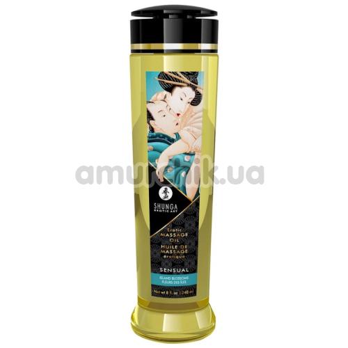 Массажное масло Shunga Erotic Massage Oil Sensual Island Blossoms - цветы, 240 мл