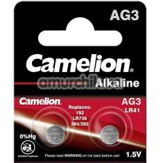 Батарейки Camelion Alkaline LR41 (AG3), 2 шт - Фото №1
