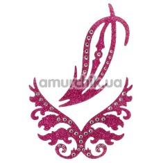 Украшение для интимных зон Glitter Sticker, розовое - Фото №1