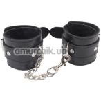 Наручники Behave! Luxury Fetish Obey Me Leather Hand Cuffs, чёрные - Фото №1