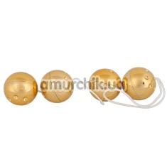 Вагинально-анальные шарики Orgasmuskugeln Gold 4er-Set - Фото №1