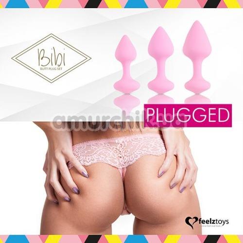 Набор анальных пробок FeelzToys Bibi, розовый