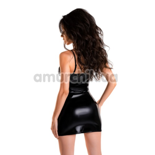 Платье Glossy Wetlook Naomi, черное