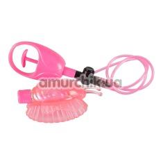 Вакуумная помпа для вагины с вибрацией Eat My Pussy, розовая