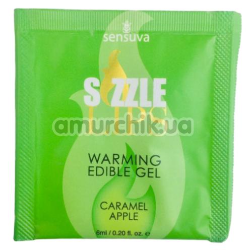 Оральный гель с согревающим эффектом Sensuva Sizzle Lips Caramel Apple - яблоко в карамели, 6 мл