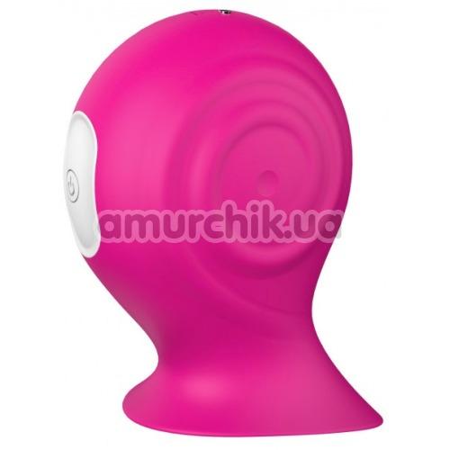 Клиторальный вибратор Vibes Of Love Pleasure Snail, розовый